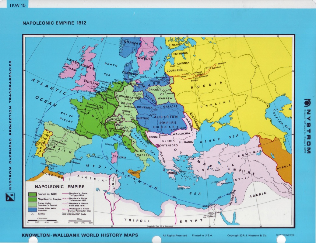 Map Of Napoleonic Europe 1812 Napoleonic Europe 1812   Mrs. Flowers History Map Of Napoleonic Europe 1812